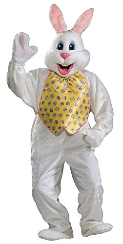 Rubie's Adult Deluxe Bunny Costume With Mascot Head,White,One for sale  Delivered anywhere in USA