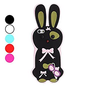 3D Design Rabbit Pattern Soft Case for iPhone 5/5S (Assorted Colors) , White