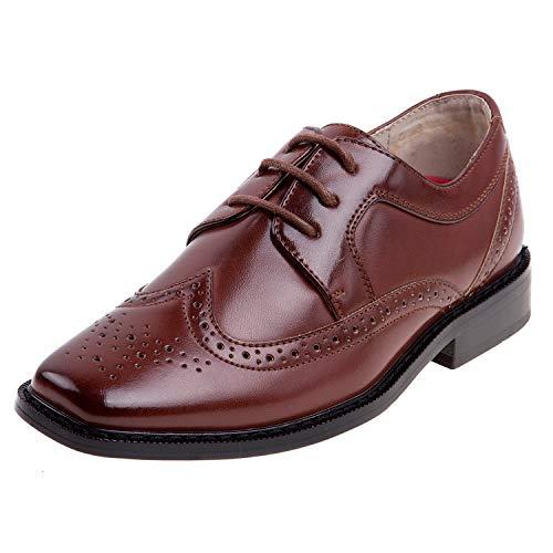 (Joseph Allen Boy\'s Wing Tip Oxford Dress Shoe (Toddler, Little Kid, Big Kid) (10 M US Toddler,)
