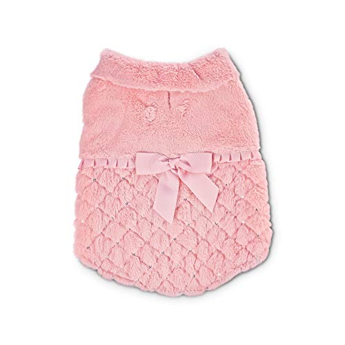 Bond & Co. Pink Faux-Fur Forever Dog Coat, ()