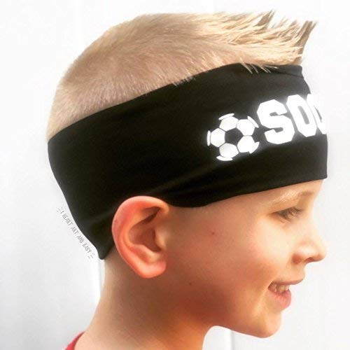 Soccer Headbands, Soccer Team Gifts, Party Favors, Black, Set of 5