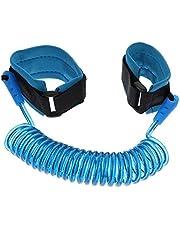 Kisangel 1. 5M Children Anti Lost Wrist Link Blue Toddlers Safe Leash Child Kids Safety Harness for Toddler Little Kids Security Links