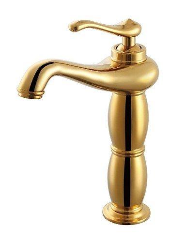 JingJingnet 浴室洗面化粧台洗面台の流しの蛇口、チタンゴールド、チタン (Color : Titanium) B07R5FDHJQ Titanium