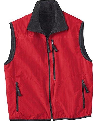 (Ash City Mens Techno Lite Reversible Vest_Molten Red)