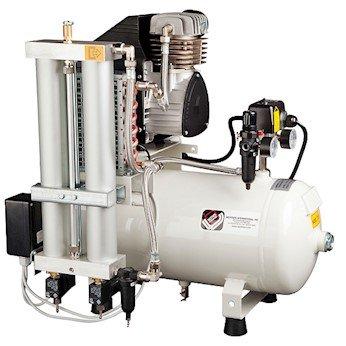 4.4 cfm//6.3 gal Tank; 115V Werther PC1//24//37 115V Ultra-Quiet Oilless Air Compressor