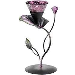 Lilac Lily Pad Tealight Candleholder Centerpiece Stand