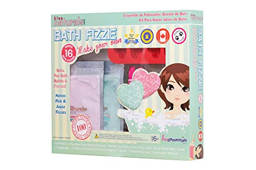 Kiss Naturals Bath Bombs - DIY Bath Bomb Kit - 100% Natural and Organic Bath Bombs for Kids