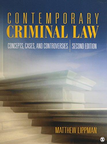 BUNDLE: Lippman: Contemporary Criminal Law, 2e Paperback + Lippman: Contemporary Criminal Law, 2e E-Book