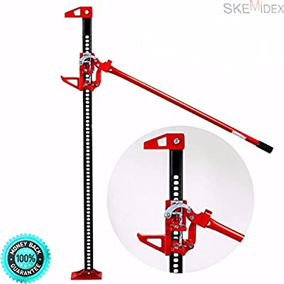 """SKEMIDEX---Off Road Ratcheting Farm Jack Truck High 60"""" Lift Bumper 3 Ton Tractor suv And auto body shop equipment beauty shop equipment butcher shop equipment barber shop equipment tire shop"""