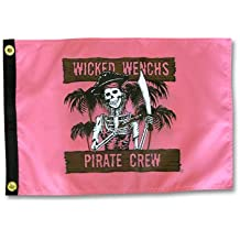 Wicked Wenchs Pirate Crew 12x18in Outdoor Garden Flag