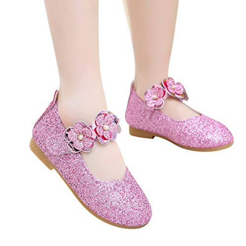 SMALLE ◕‿◕ Girls Sequins Shoes, Baby Girls Flower Bow-Knot Bling Sequins Princess Casual Shoes Dance Shoe ()