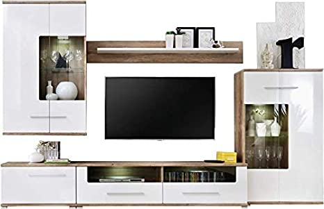 Living Room Furniture Modern Set Cupboard Cabinet Shelf Tv Unit Stand Display