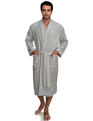 (TowelSelections Men's Robe, Turkish Cotton Terry Kimono Bathrobe X-Small/Small High-Rise)