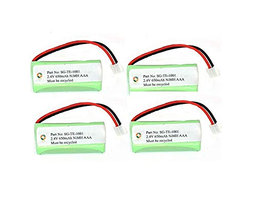 SPS Brand 2.4V 650mAh Replacement Battery for Jensen JTB295 (4 Pack) 650 Mah Replacement Battery