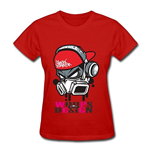 Skull Helmet Adult Standard Weight Funny T-shirt For Women, Adults, Girls (Parks And Recreation April Costume)