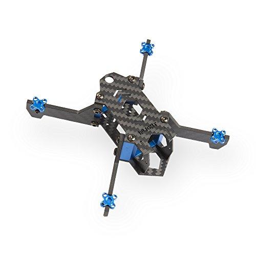 iFlight Vertigo VX2 Vertical 125mm FPV Carbon Fiber Quadcopter Frame Kit with CNC Aluminum Alloy Base (Carbon Fiber Cnc Frame)