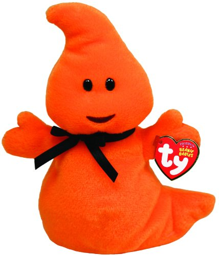 Ty Beanie Baby Haunt - Orange Ghost