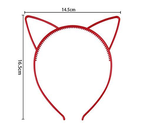 Diademas Orejas de Gato Ni/ña para mujer 24 Piezas