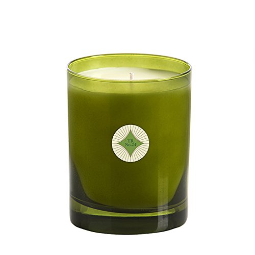 Scentations Traditions Scented Candle in Green Glass, 12 oz, Juniper Orange Pine Scents