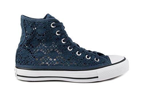 Converse, Donna, All Star Hi Crochet Navy, Cotone, Sneakers Alte, Blu