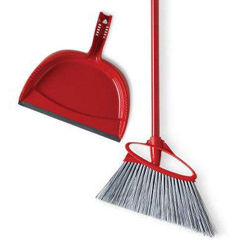 O-Cedar Angler Angle Broom with Dust Pan