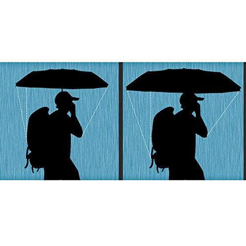 Color : Blue SJJOZZ 24K Largo Paraguas Hombre y for Mujer Color s/ólido Mango Largo Paraguas a Prueba de Viento al Aire Libre de Viaje Paraguas