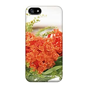 New Orange Flowers For Alba Skin Case Cover Shatterproof Case For Iphone 5/5s