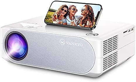 "VANKYO 2021 Upgraded 5G WiFi Video Projector, HD Home Projector w/ 1080P 300"" Screen & ±50° Keystone Correction, Support 4K/5G Wireless Screen Mirroring, Portable Movie Projector for Outdoors & Home"