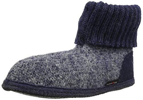 Para Hombre jeans Altas Azul Haflinger Zapatillas 1898 Hüttenschuh 72 xwzqROF