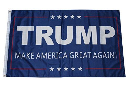 flyingflags 3x5 Feet Donald Trump Flag - Trump 2020 Keep Ame