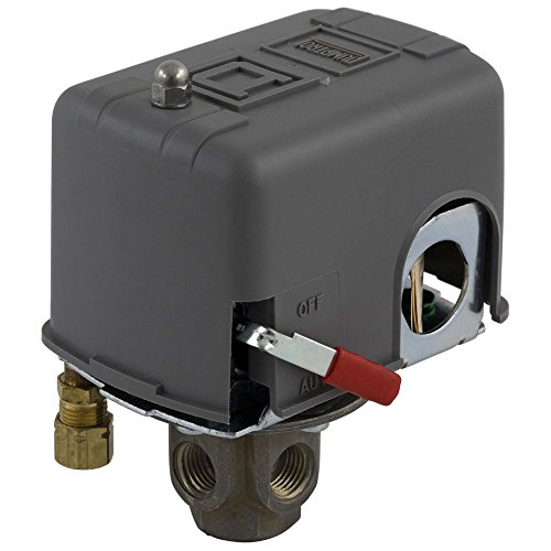 Differential Pressure Valves (Square D by Schneider Electric 9013FHG14J39M1X Air-Compressor Pressure Switch, 135 psi Set Off, 30 psi Fixed Differential, 4-Way Flange, 2-Way Release Valve, Auto/Off Cut-Out Lever)
