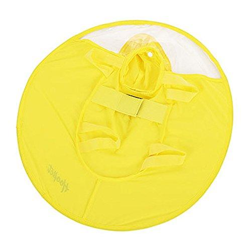 Pet Dog Rain Coat Hat, Umbrella Waterproof Cap Raincoat for Small Dogs (L, Yellow)