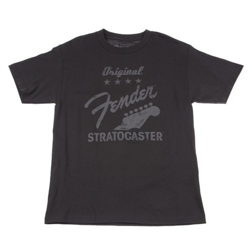 Fender Guitar Clothing (Fender Original Strat T-Shirt, Charcoal, M)