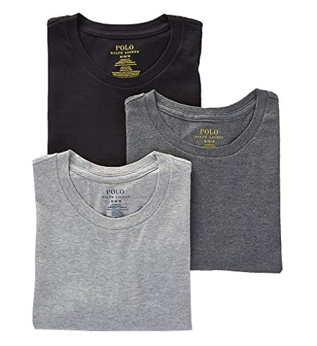 (Polo Ralph Lauren Men's Classic Fit w/Wicking 3-Pack Crews Andover Heather/Madison Heather/Black XX-Large)