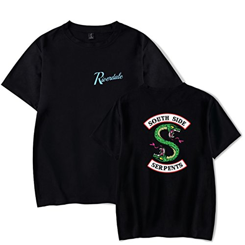 De Para Serpents Riverdale Verano Camiseta Side Unisex Hombre South Negro Shirt 2018 Seraphy T mujer PAqSzz
