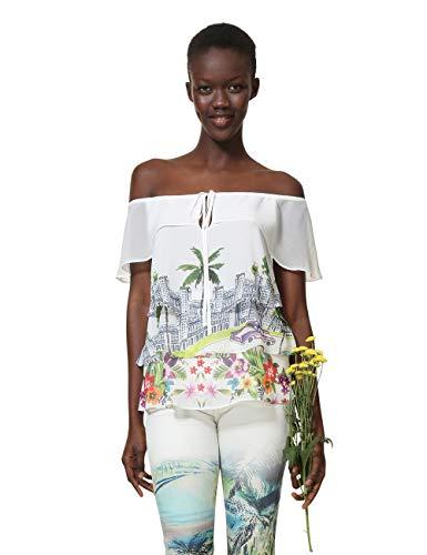 Woman Blusa 1000 Donna White Colette Desigual Bianco bianco Blouse Sleeveless FqxXtX1U