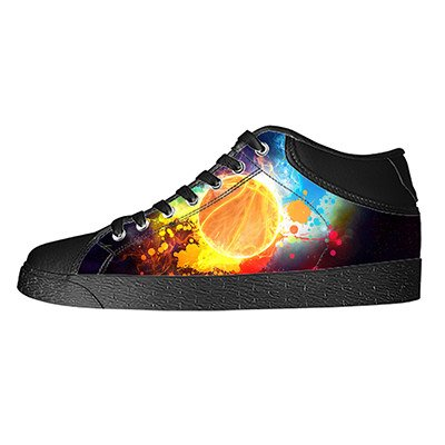 Custom Basketball Womens Classic High Top Canvas Shoes Fashion Sneaker (America Basketball Captain Shoes)