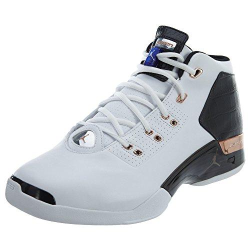 Jordan AirJordan 17+ Retro Men US 8 White Basketball Shoe (Retro 17 Jordan Shoes)