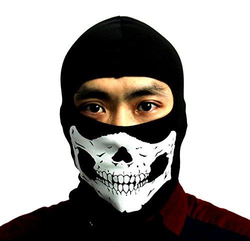 Et Bike Costume (Huamost New Ghosts Skeleton Balaclava Bike Skateboard Cosplay Costume Skull Mask Hood /Cycling Protective Balaclava Full Face Skull Mask)