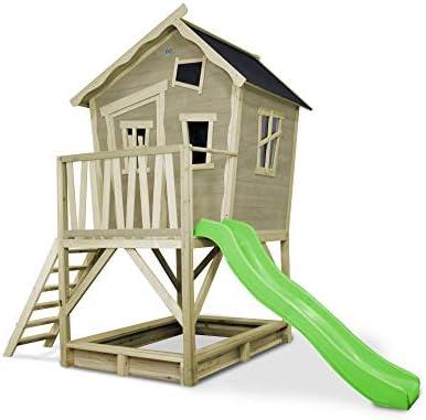 EXIT Crooky 500 Casa de Juegos Sobre pilares - Casas de Juguete (Casa de Juegos Sobre pilares, Niño/niña, 3 año(s), Azul, Marrón, Verde, 10 año(s), Madera): Amazon.es: Juguetes y juegos