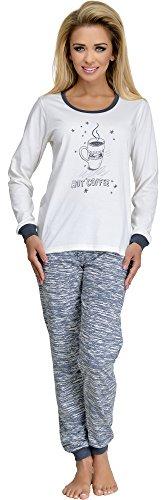 Merry Style Pijama para Mujer 1022 Ecru