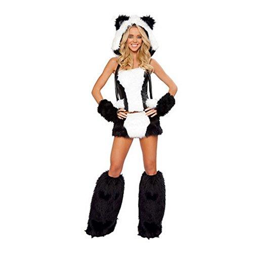 [Halloween Adult Animal Costume Polar Bear/Monkey/Fox/Cat/Dolphin Cosplay Uniform] (Women's Polar Bear Costume)