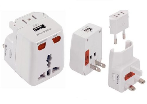PowerXcel Universal Travel Adapter Packaging product image