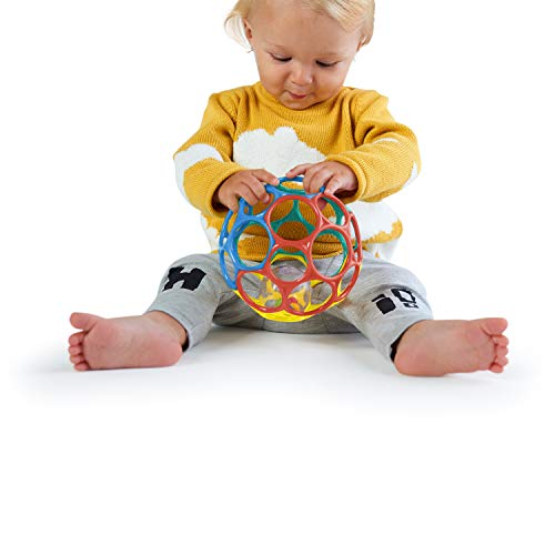 41sdb8kptPL - Bright Starts Oball 2-in-1 Roller Sit-to-Stand Push Toy
