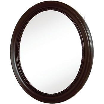 Pegasus SP4603 30 Inch Deco High Oval Framed Medicine Cabinet, Oil Rubbed  Bronze