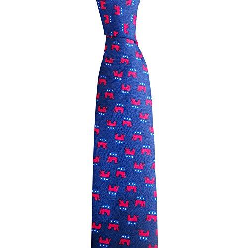 Tie - Elephant Republican Necktie - Blue