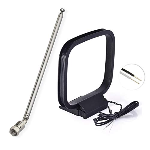 Bingfu 7-Sections Telescopic FM Antenna and AM Loop Antenna for