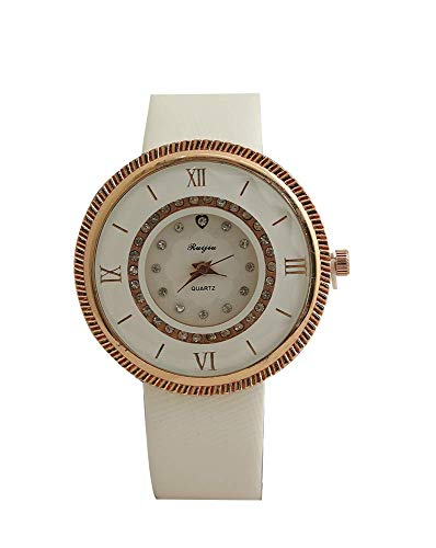 Aica Gifts White Analogue Round Dial Women's Watch, Perfume and Wallet Set