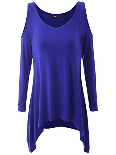 JayJay Women Plus Size V Criss Cross Neck Summer Tunic Tops