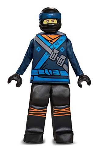 Disguise Jay Lego Ninjago Movie Prestige Costume, Blue, Medium (7-8)